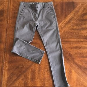 Khakis by GAP skinny mini gray chino denim pants